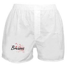 Breanna Artistic Name Design with Hea Boxer Shorts