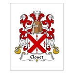 Clouet Family Crest Small Poster