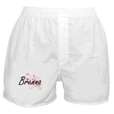 Brenna Artistic Name Design with Hear Boxer Shorts