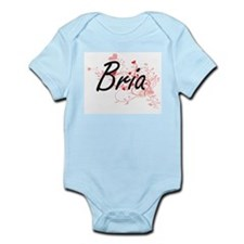 Bria Artistic Name Design with Hearts Body Suit