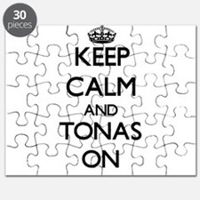 Keep Calm and Tonas ON Puzzle