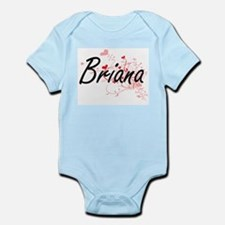 Briana Artistic Name Design with Hearts Body Suit