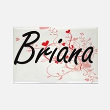 Briana Artistic Name Design with Hearts Magnets