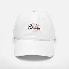 Briana Artistic Name Design with Hearts Baseball Baseball Cap