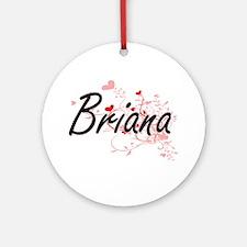 Briana Artistic Name Design with Ornament (Round)