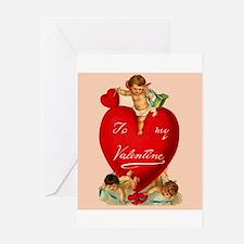 Victorian Valentine Heart Greeting Card