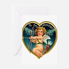 Cupid with Bow and Arrow Greeting Card