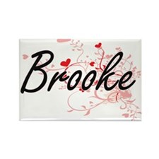 Brooke Artistic Name Design with Hearts Magnets