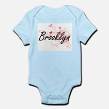 Brooklyn Artistic Name Design with Heart Body Suit