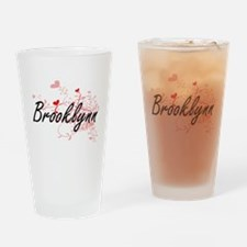 Brooklynn Artistic Name Design with Drinking Glass