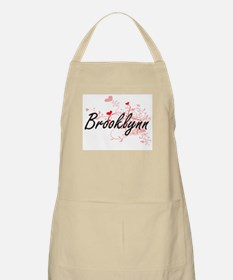 Brooklynn Artistic Name Design with Hearts Apron