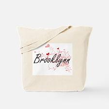 Brooklynn Artistic Name Design with Heart Tote Bag