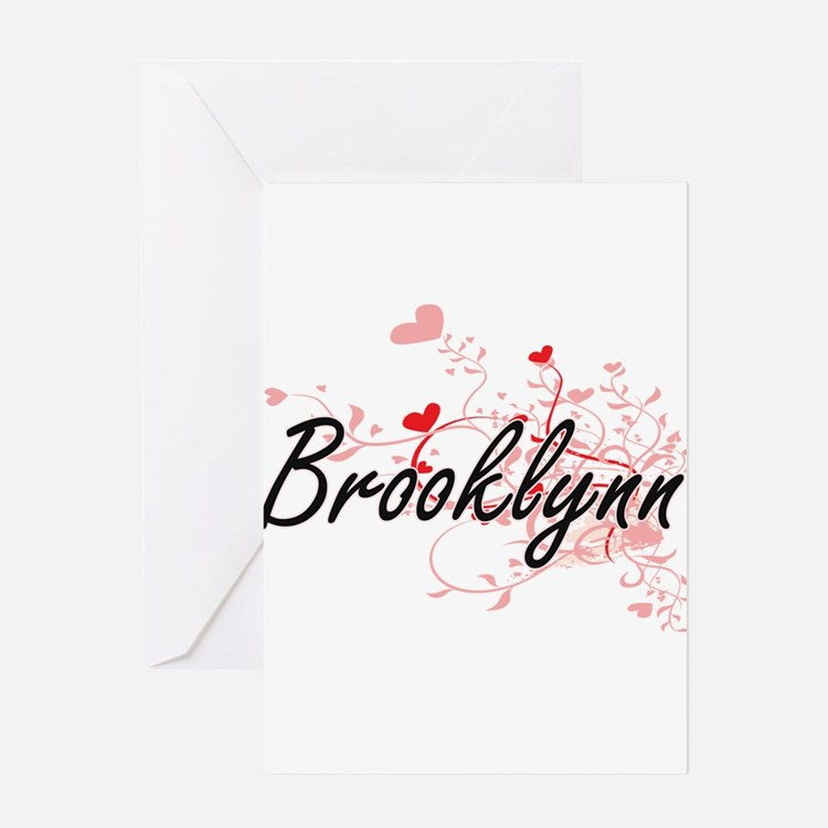 Brooklynn Artistic Name Design with Greeting Cards