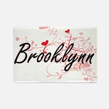 Brooklynn Artistic Name Design with Hearts Magnets