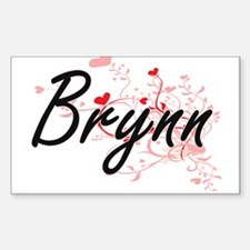 Brynn Artistic Name Design with Hearts Decal