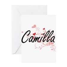 Camilla Artistic Name Design with H Greeting Cards