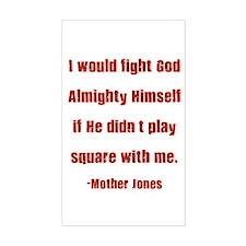Mother Jones Rectangle Decal