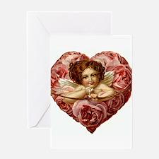 Victorian Cupid Valentine Greeting Card