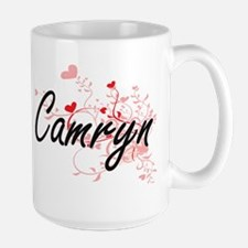 Camryn Artistic Name Design with Hearts Mugs