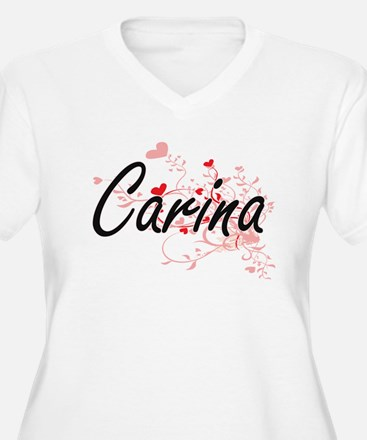Carina Artistic Name Design with Plus Size T-Shirt