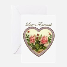 Love is Eternal - Roses Heart Greeting Card