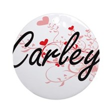 Carley Artistic Name Design with Ornament (Round)