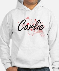 Carlie Artistic Name Design with Hoodie Sweatshirt