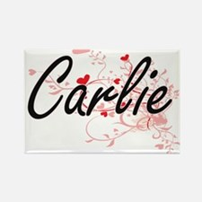 Carlie Artistic Name Design with Hearts Magnets