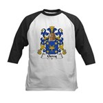 Clercq Family Crest Kids Baseball Jersey