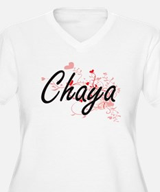 Chaya Artistic Name Design with Plus Size T-Shirt