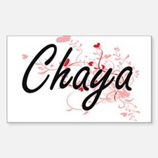 Chaya Artistic Name Design with Hearts Decal