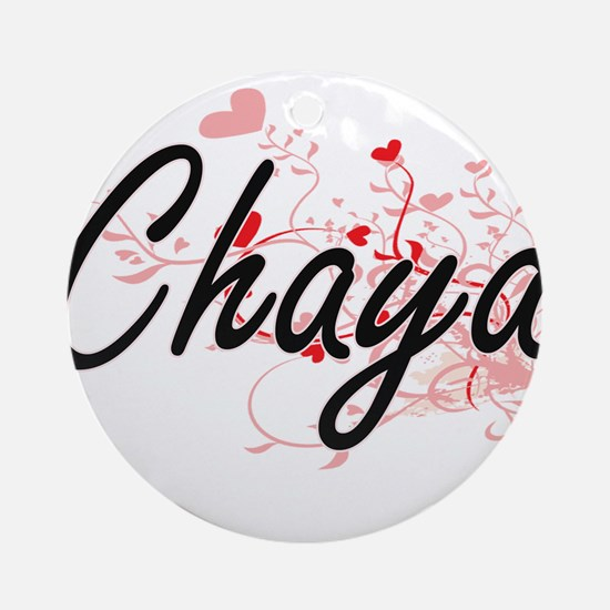 Chaya Artistic Name Design with H Ornament (Round)