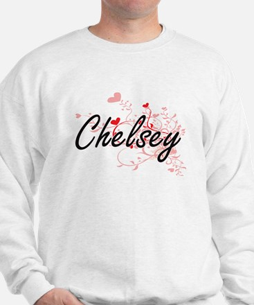 Chelsey Artistic Name Design with Heart Sweater