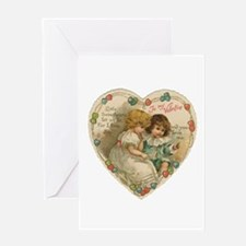 Little Valentine Sweethearts - Vintage Greeting Ca