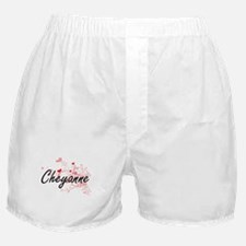 Cheyanne Artistic Name Design with He Boxer Shorts