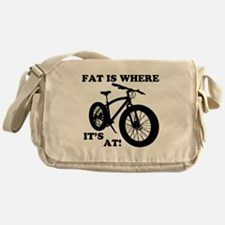 FAT BIKE-FAT IS WHERE IT'S AT! Messenger Bag