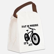 FAT BIKE-FAT IS WHERE IT'S AT! Canvas Lunch Bag