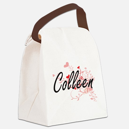 Colleen Artistic Name Design with Canvas Lunch Bag
