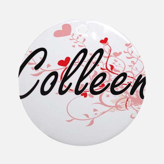 Colleen Artistic Name Design with Ornament (Round)