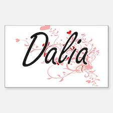 Dalia Artistic Name Design with Hearts Decal