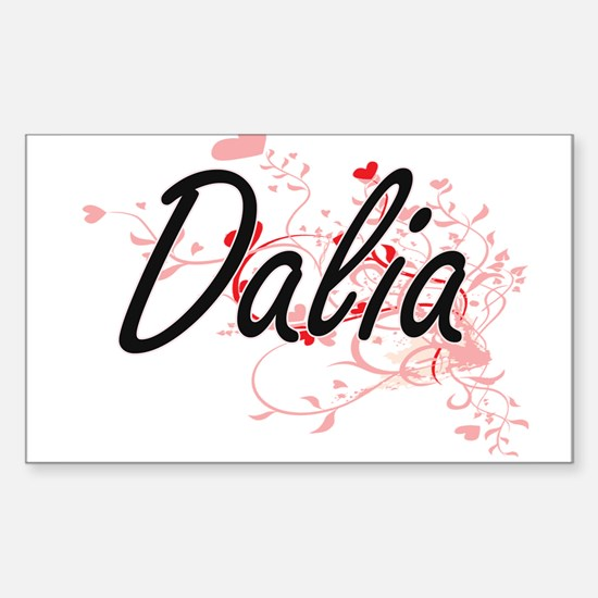 Dalia Artistic Name Design with Hearts Decal