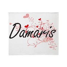 Damaris Artistic Name Design with He Throw Blanket