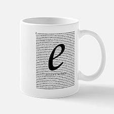 Euler's number: Base of natural logarithm Mugs