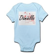 Danielle Artistic Name Design with Heart Body Suit