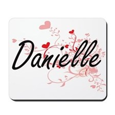 Danielle Artistic Name Design with Heart Mousepad