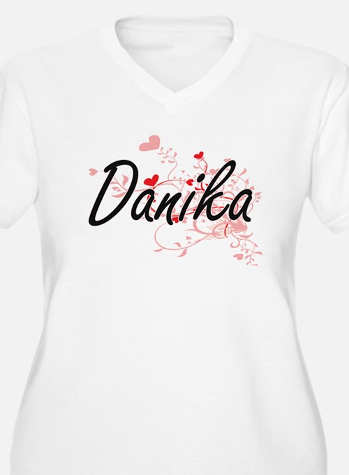 Danika Artistic Name Design with Plus Size T-Shirt
