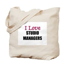 I Love STUDIO MANAGERS Tote Bag
