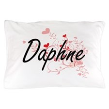 Daphne Artistic Name Design with Heart Pillow Case