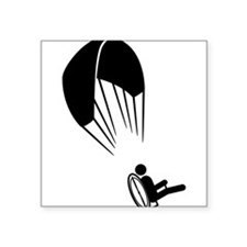 "Cute Paragliding Square Sticker 3"" x 3"""