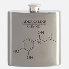 adrenaline: Chemical structure and formula Flask